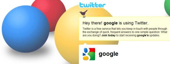 Google Accounts on Twitter
